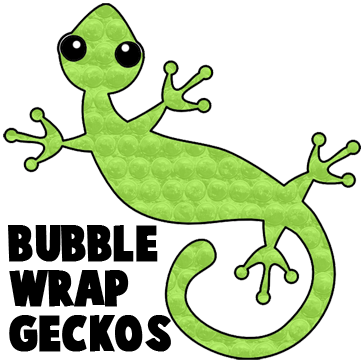 Gecko clipart kid. Bubble wrap crafts for