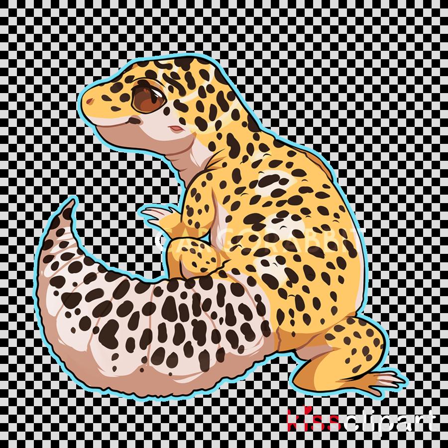 Cat cartoon lizard pattern. Gecko clipart leopard gecko