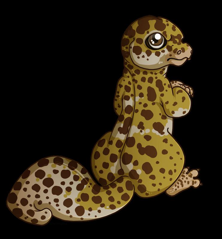 Gecko clipart leopard gecko. Little by ardengrail on