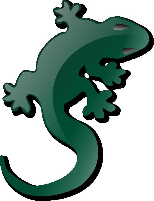 gecko clipart lizard outline