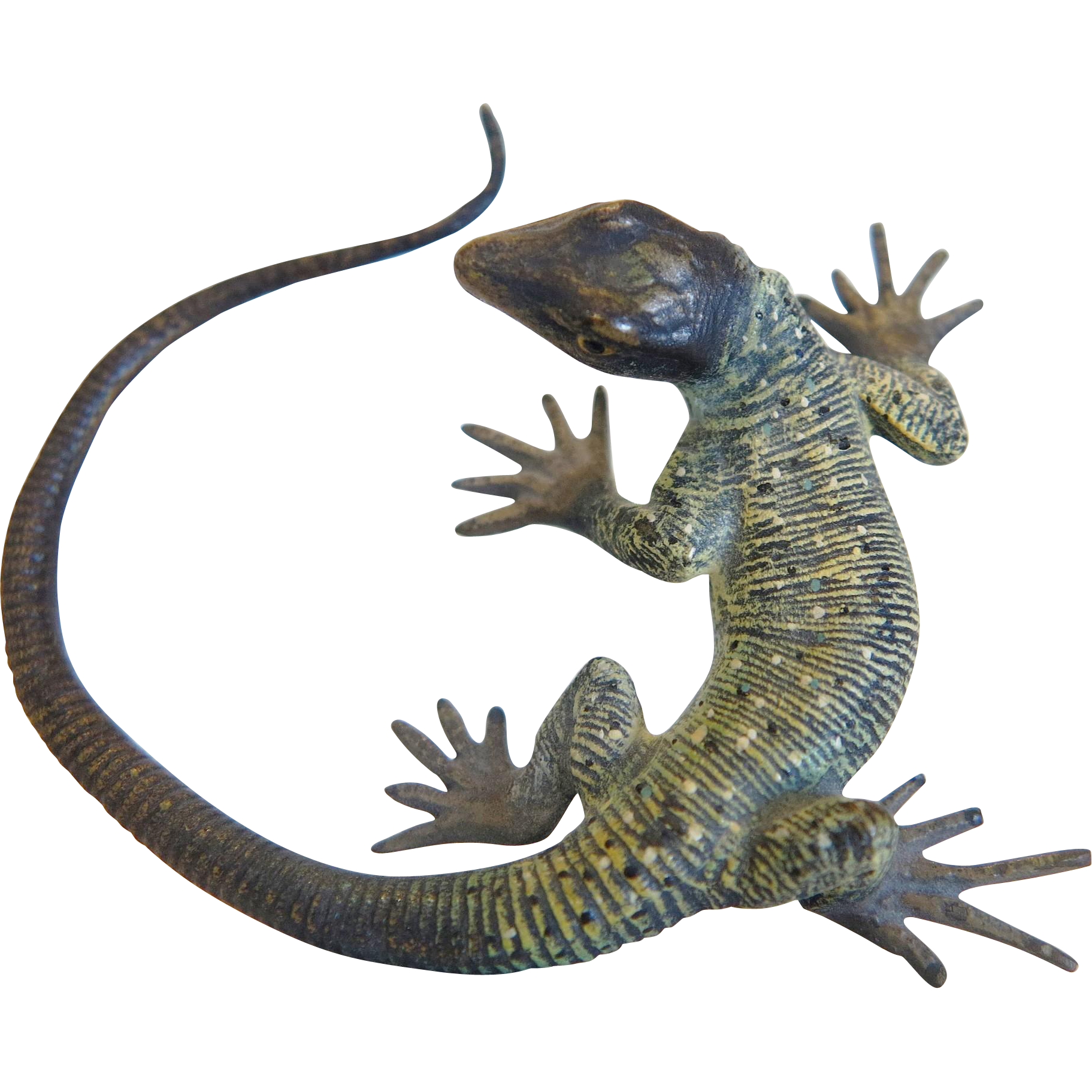 gecko clipart painted