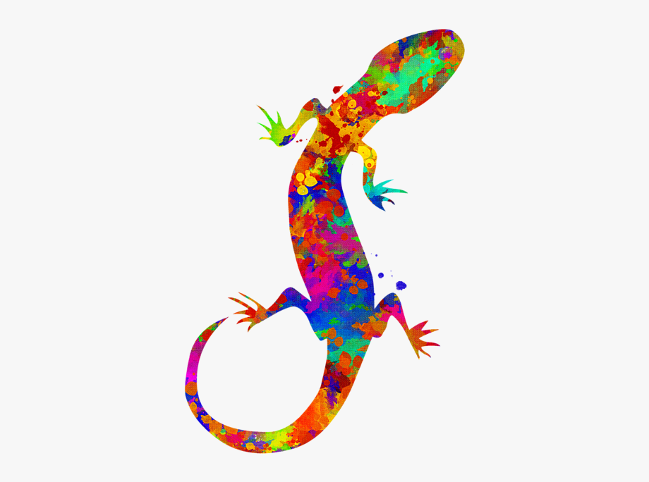 Black and white transparent. Gecko clipart painted