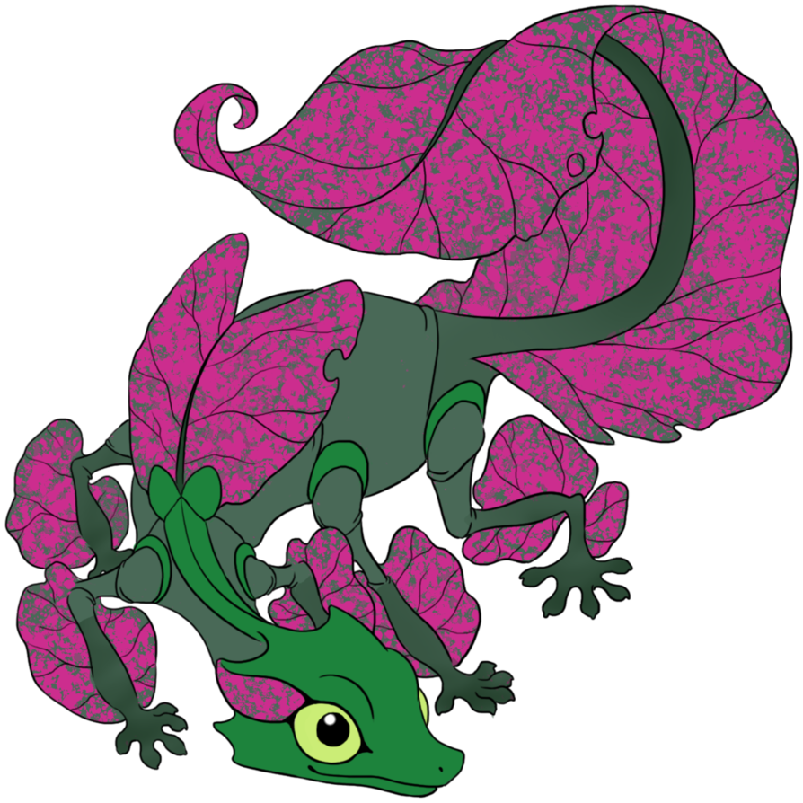 Gecko clipart pink. Familiar coloring contest submissio