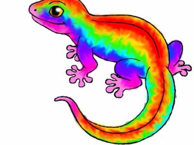 Free lizzard download clip. Gecko clipart rainbow