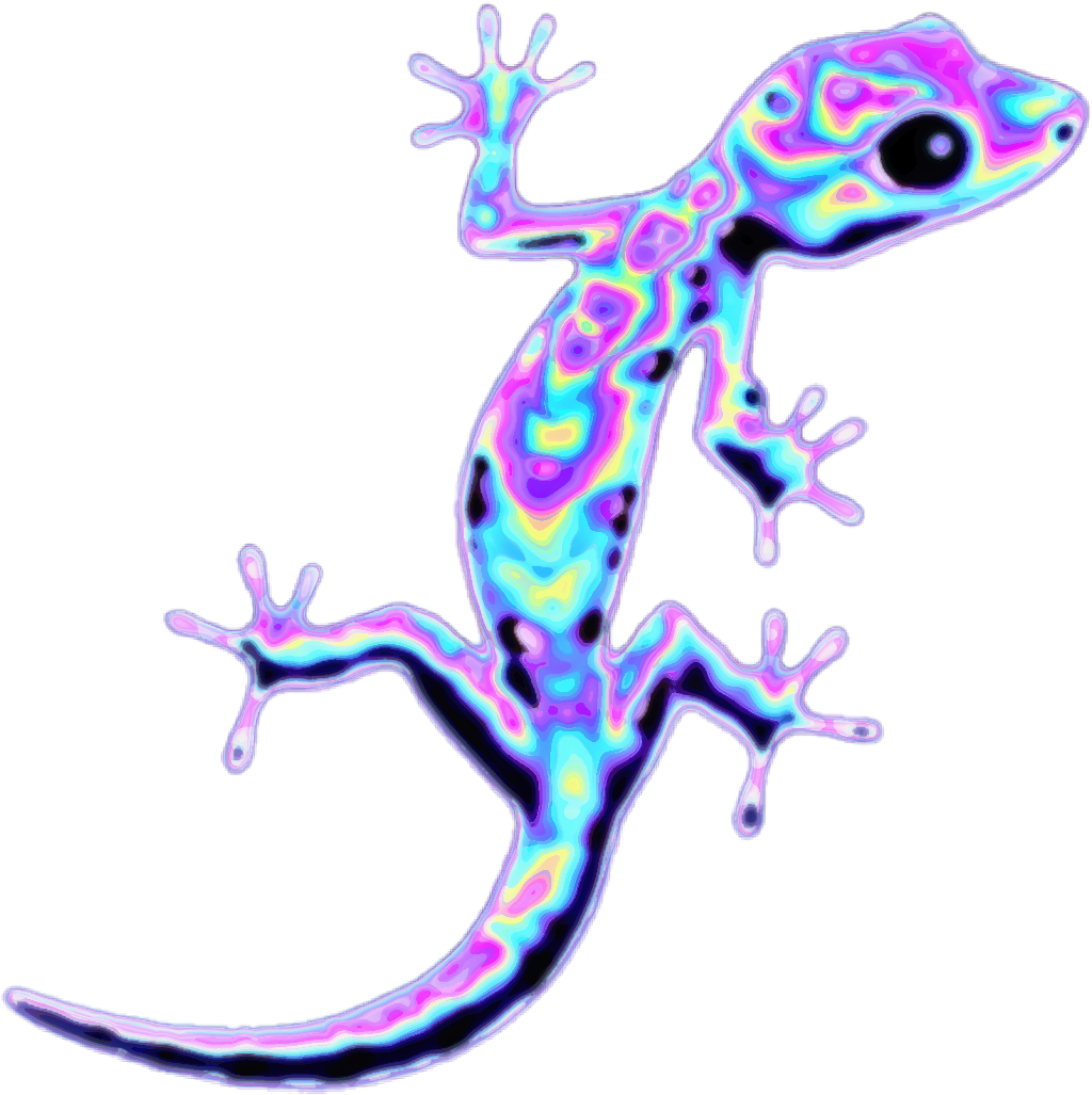 Lizard holo holographic freetoedit. Gecko clipart reptile