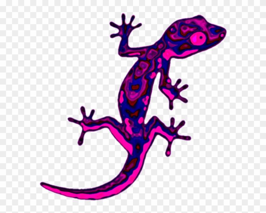 Sticker geco lizard reprile. Gecko clipart reptile
