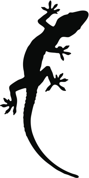 Gecko clipart silhouette. Clip art library