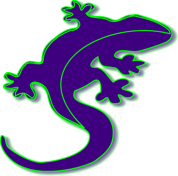 Gecko clipart svg. Purple clip art at