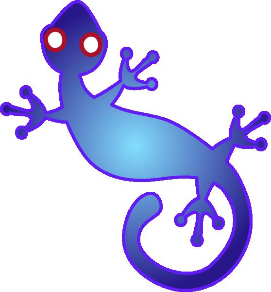 Gecko clipart svg. Blue clip art at