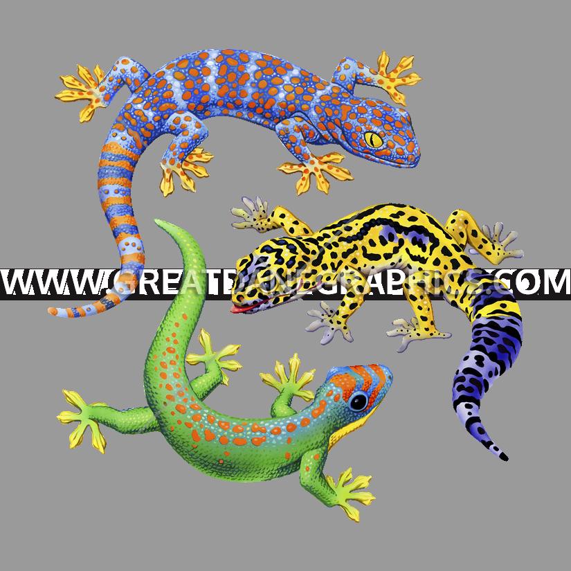 Gecko clipart transparent background. Three geckos production ready