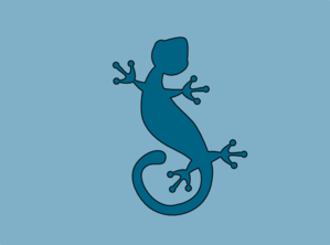 Clip art at clker. Gecko clipart turquoise