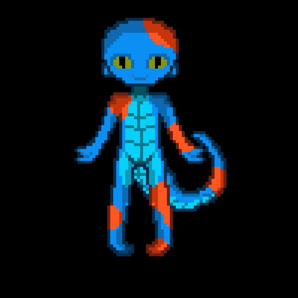 Pixilart cat by geckomangeky. Gecko clipart turquoise