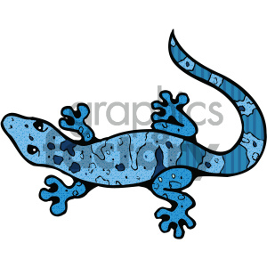 Gecko clipart turquoise. Cartoon c royalty free