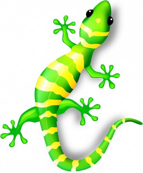 Free in adobe illustrator. Gecko clipart vector