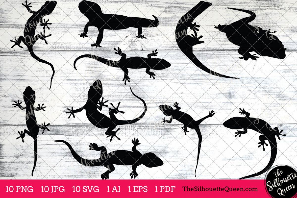 Gecko clipart vector. Silhouettes clip art ai