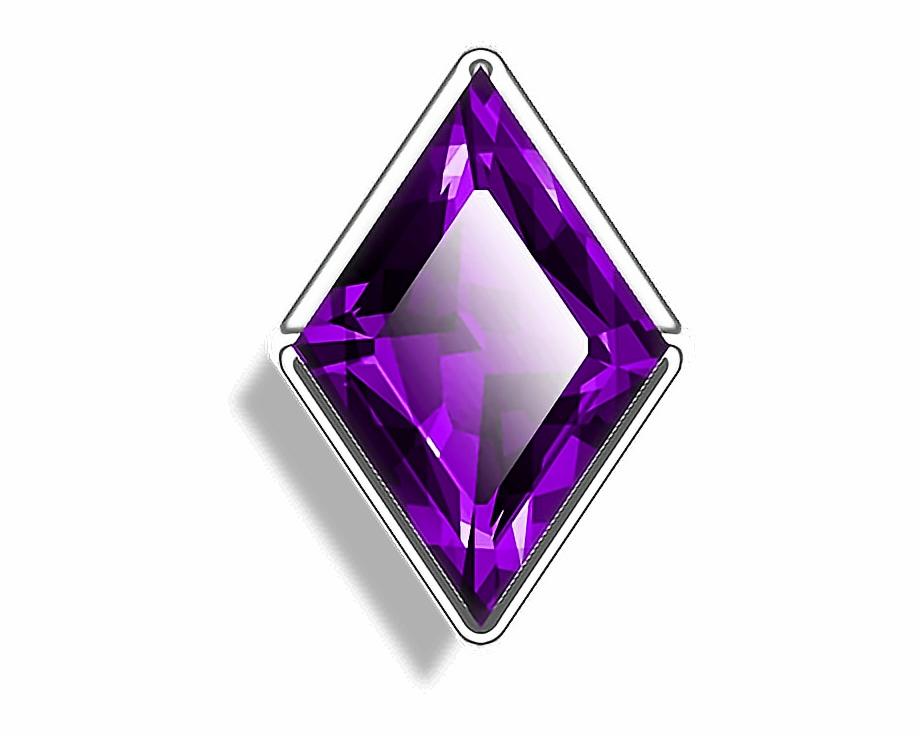 Purple crystal stone jewel. Gem clipart amethyst