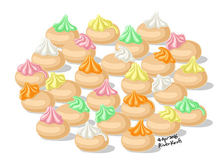 Ice biscuits by riverkpocc. Gem clipart biscuit