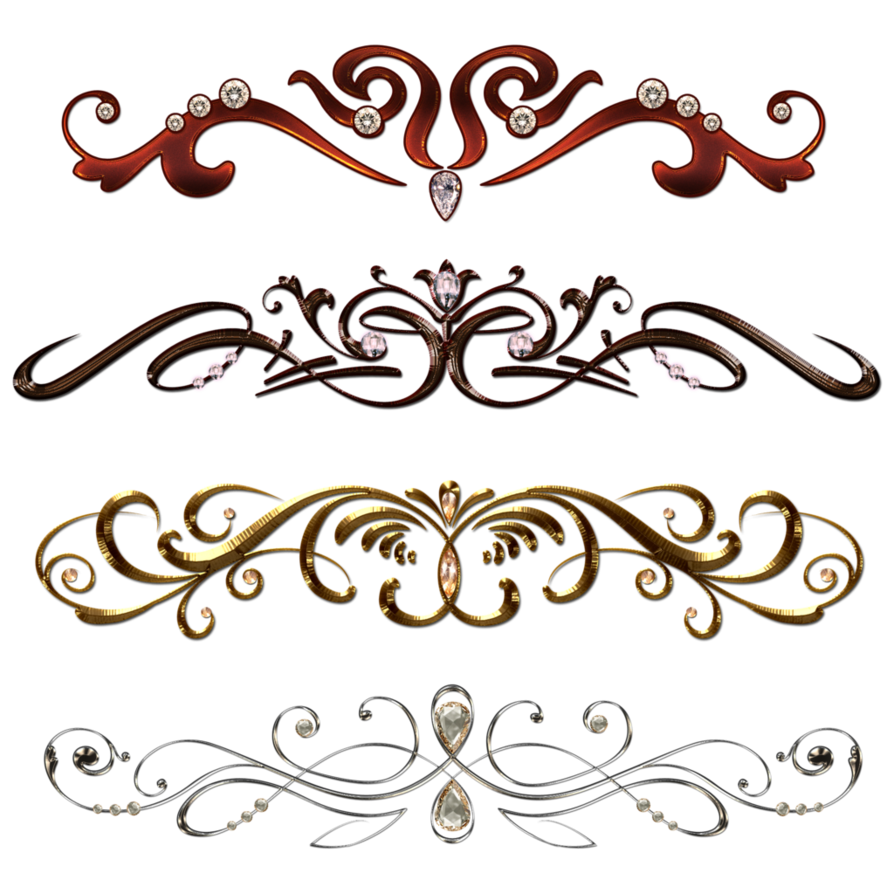 Vintage border png. Borders with gems by
