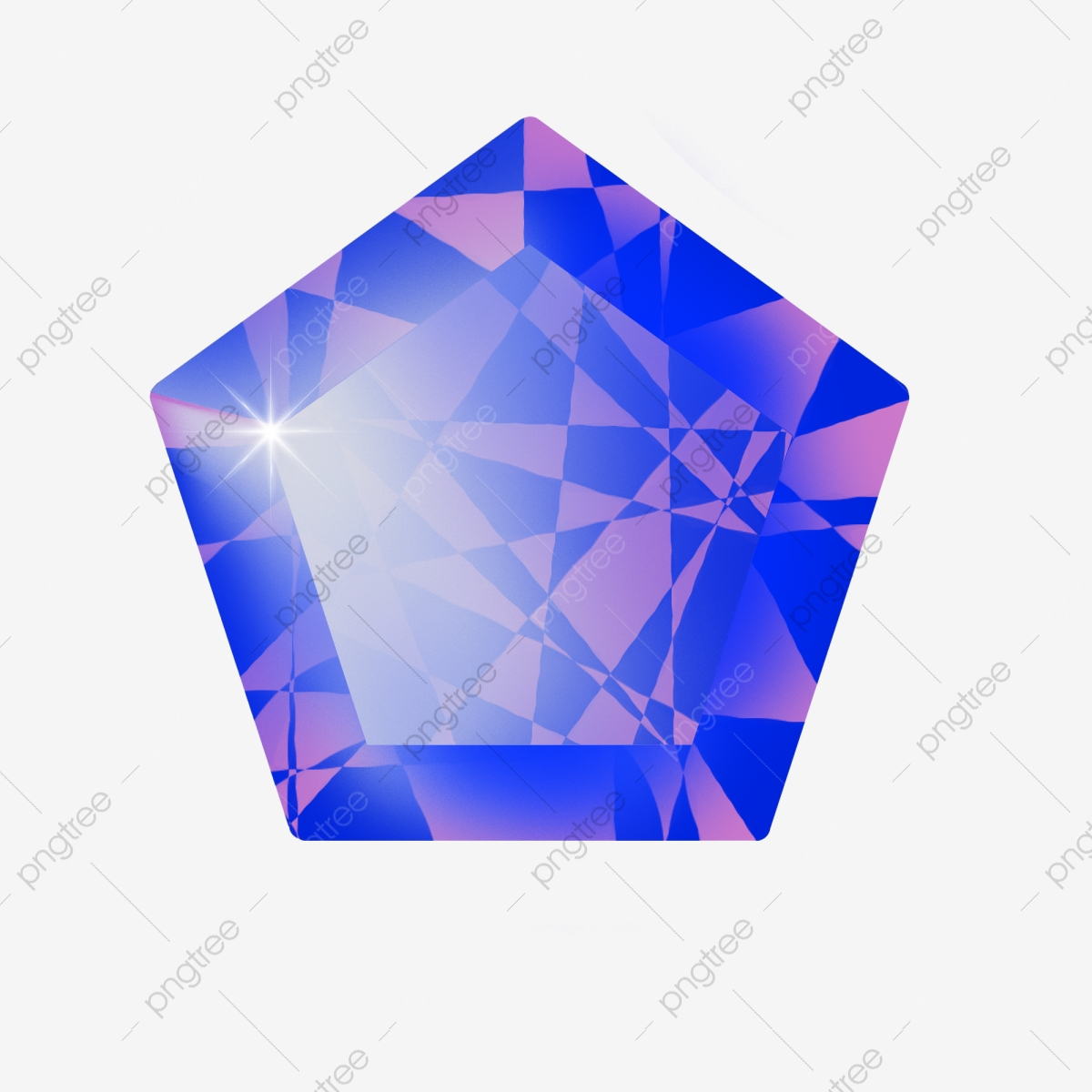Gem clipart cartoon blue. Pentagon gems illustration gemstone