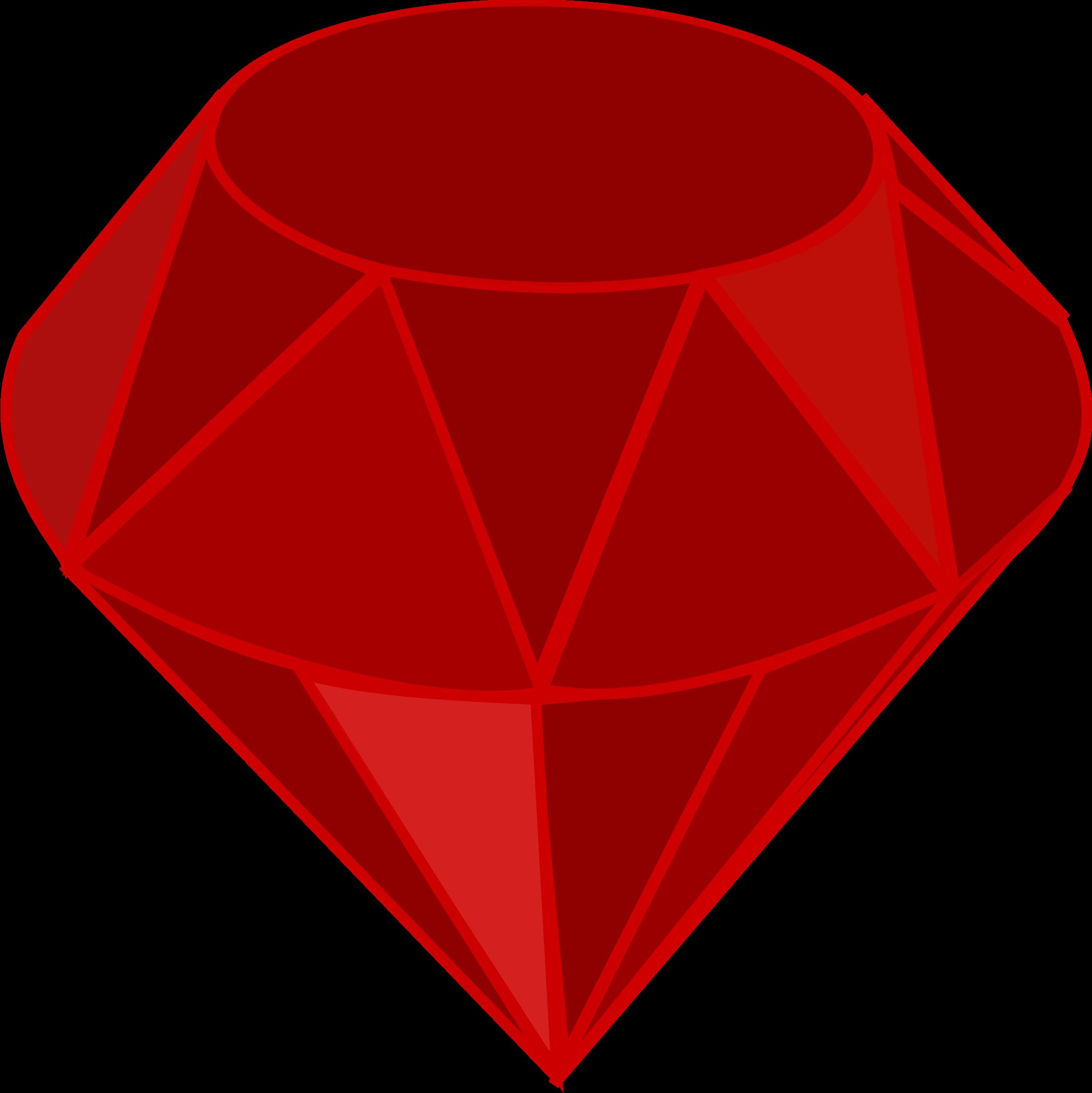 Ruby no shading square. Gem clipart clip art