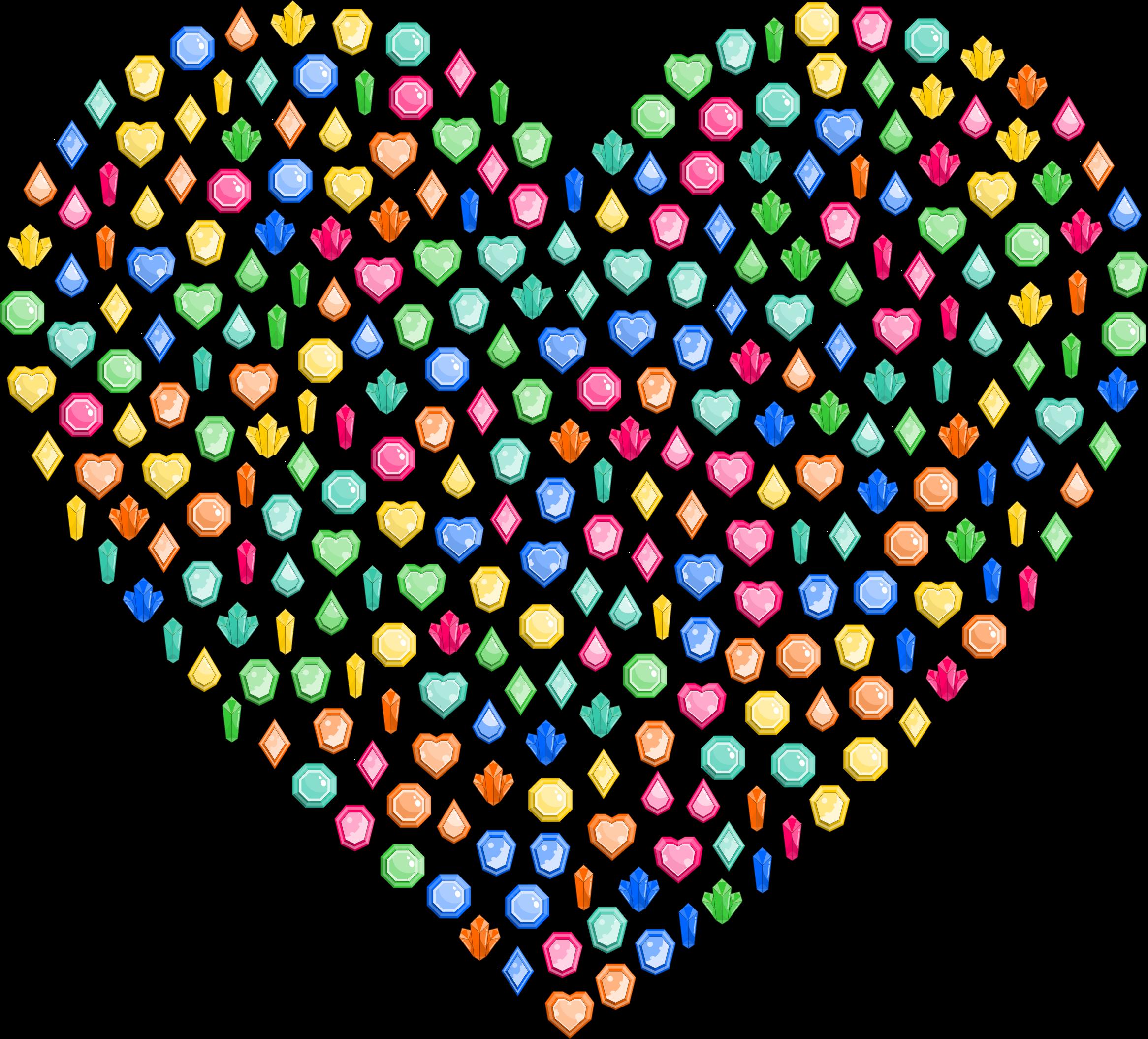 Gem clipart colorful gem. Gems heart big image