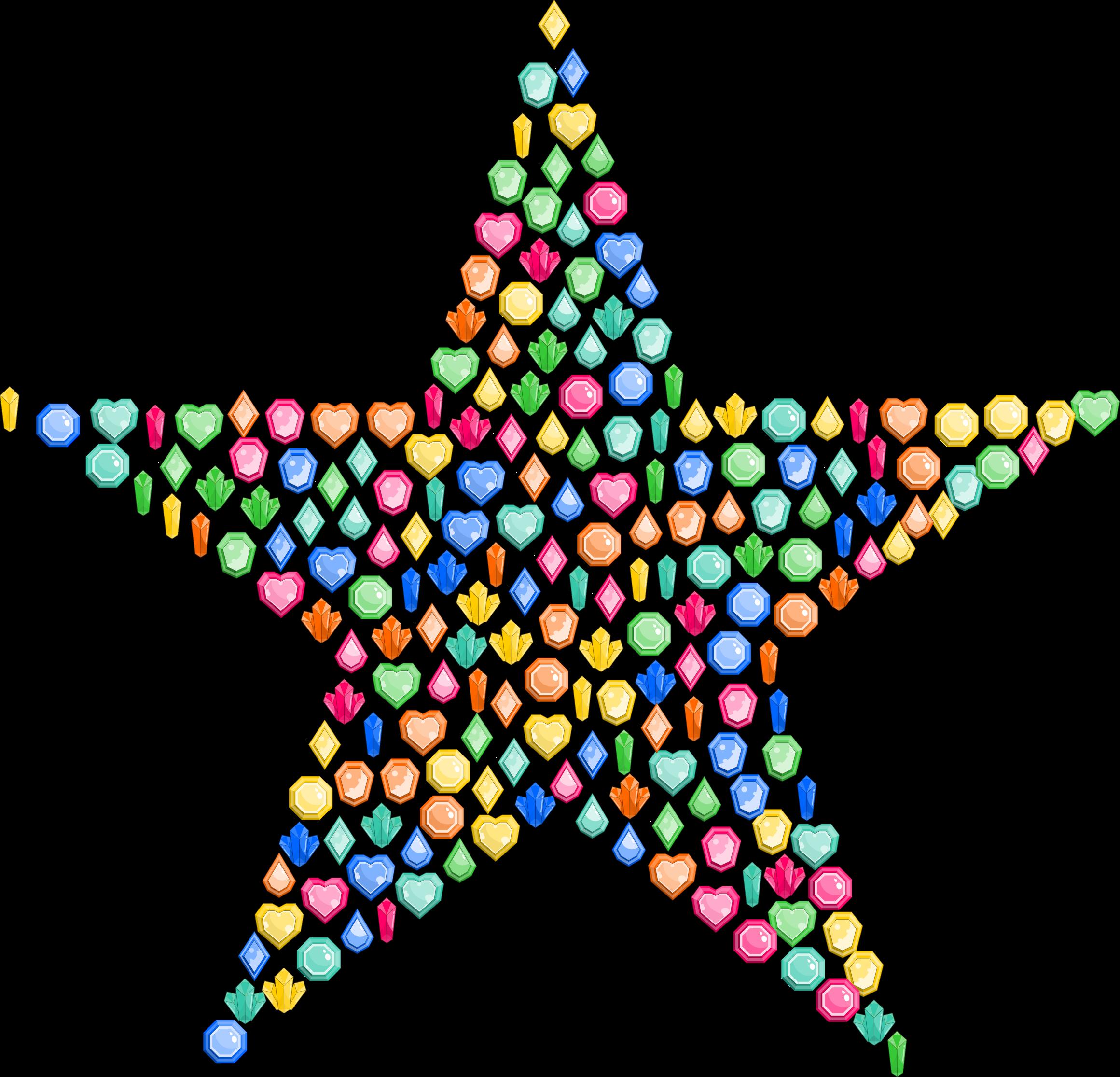 Gems star big image. Gem clipart colorful gem