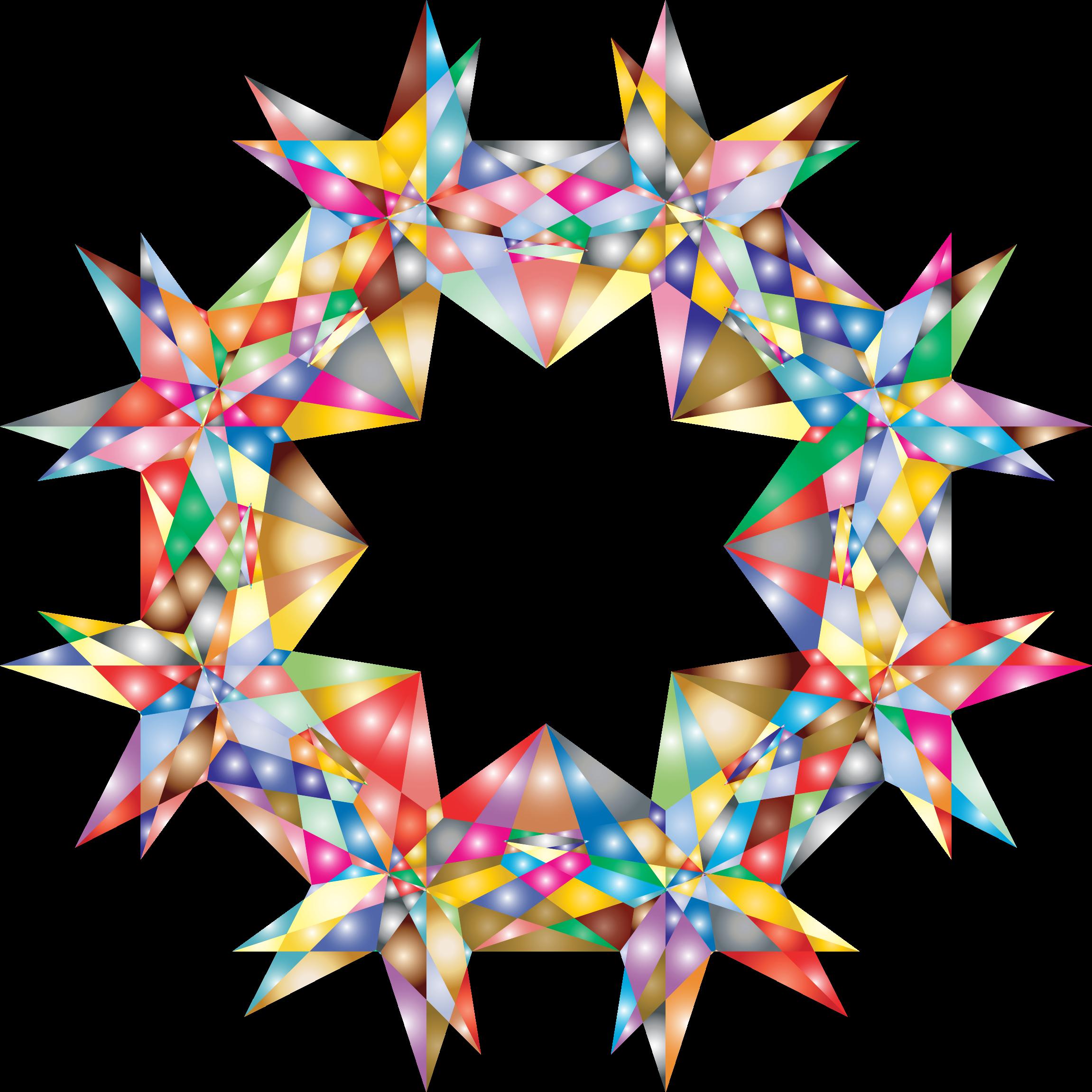 Gem clipart colorful thing. Geometric star big image