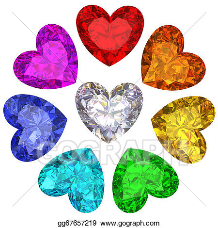 Clip art gems in. Gem clipart colorful thing