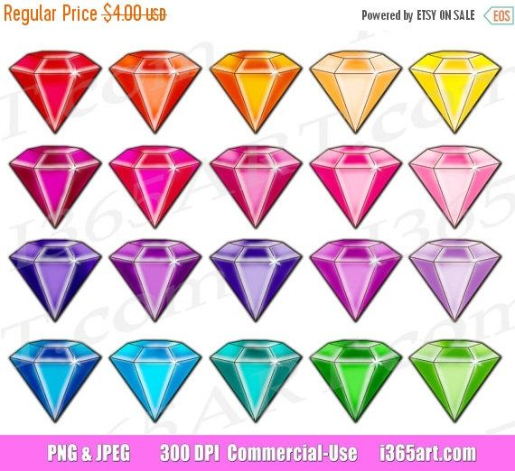 Pin by i art. Gem clipart colorful thing
