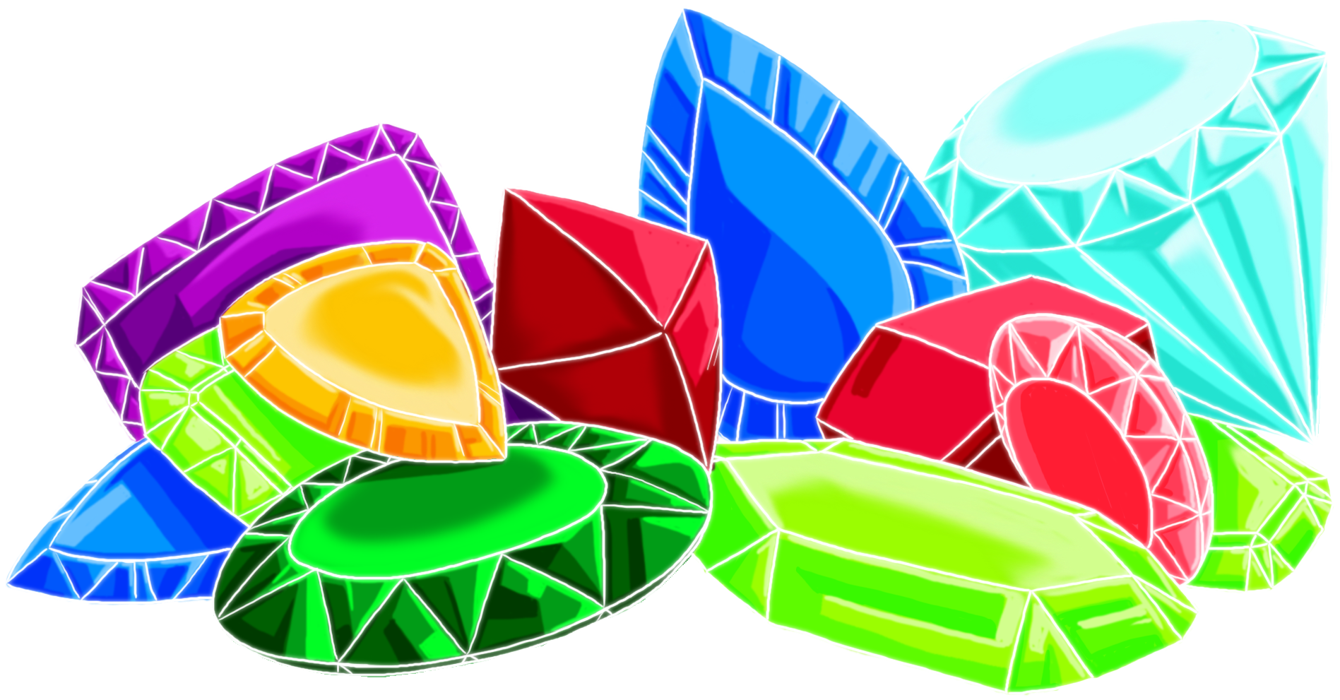 Gem clipart colorful thing. Gemstone pile of gems