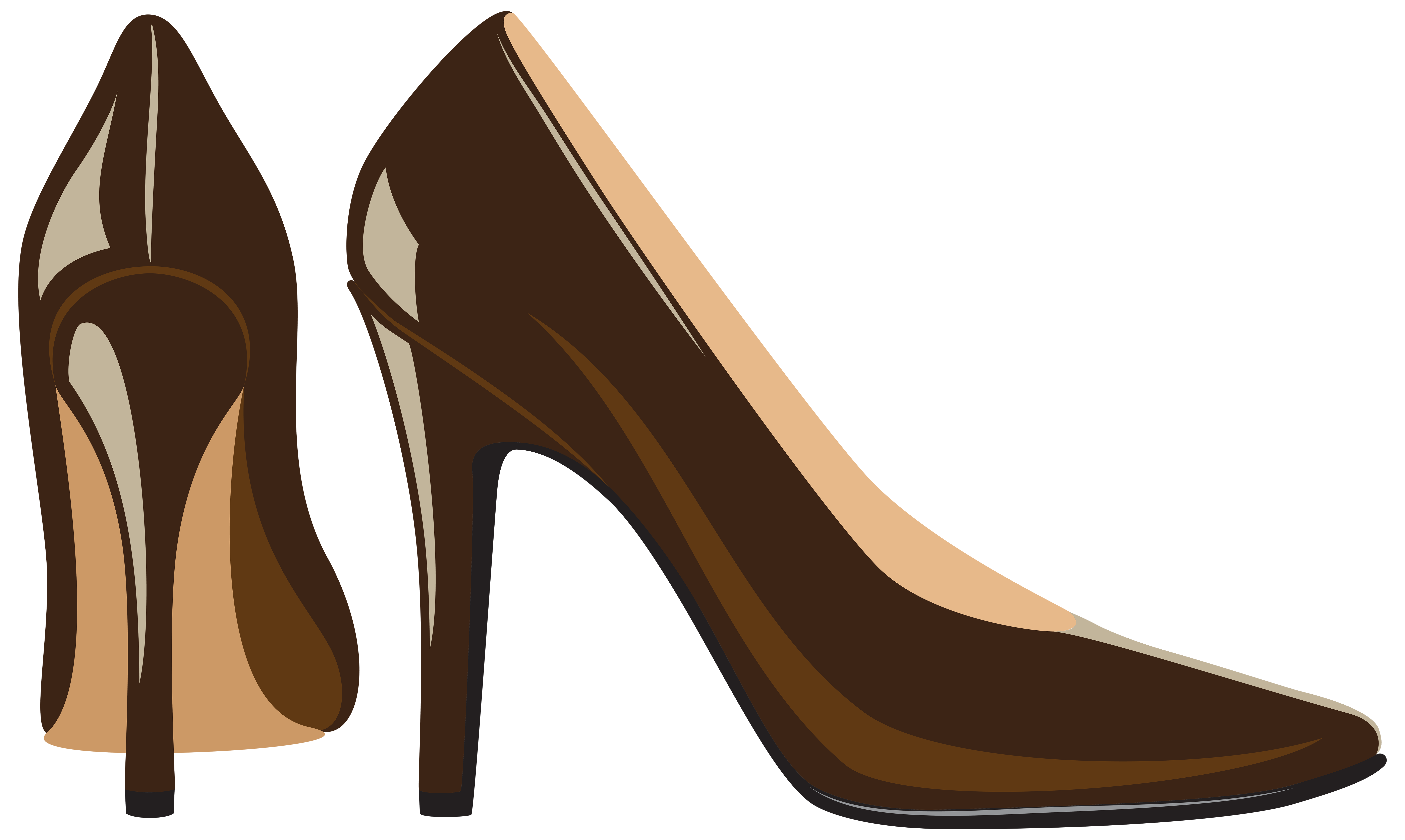 Brown heels png clip. Glass clipart shoe