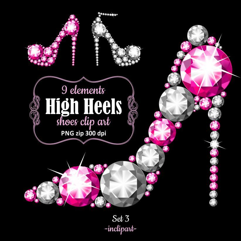 High shoes pink and. Heels clipart sparkly heel