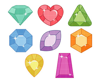 Gem clipart different. Free gems cliparts download