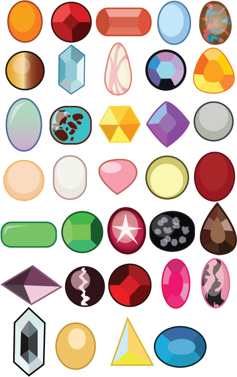 Gemsona gems by craftykenzie. Gem clipart digital art
