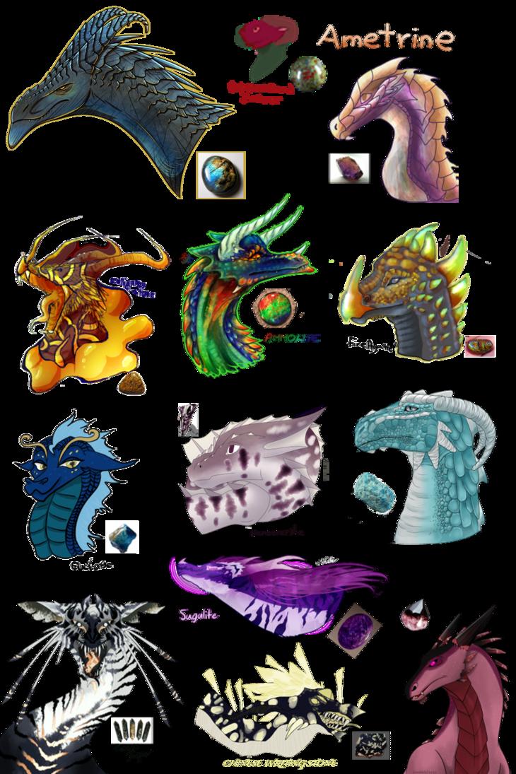 Gem clipart drawn. Gemstone dragons collab by