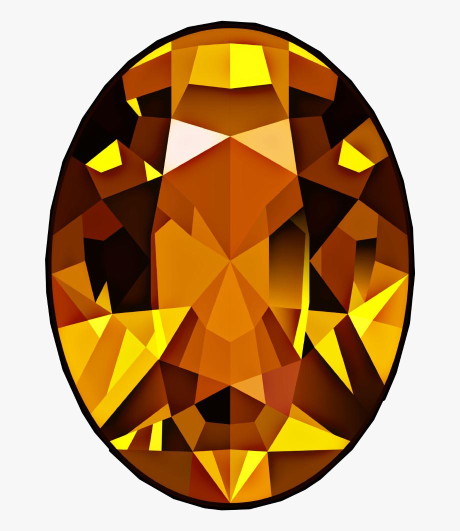 Diamond stone jewel yellow. Gem clipart gemstone