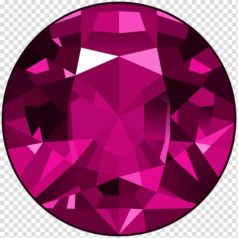 Round purple illustration diamond. Gem clipart gemstone