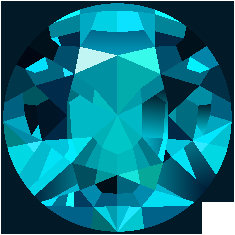 Hearts clipart gem. Sky blue png clip