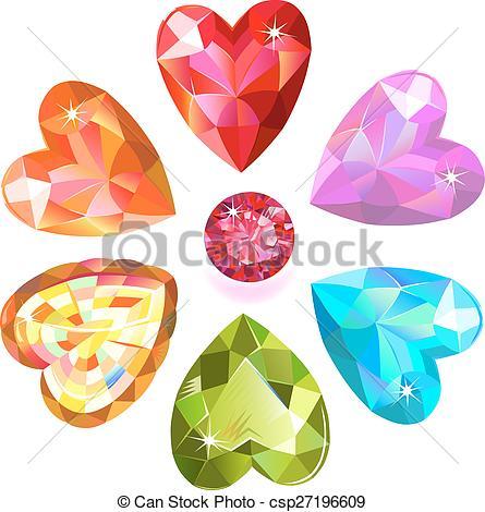 Clip art arts for. Gem clipart heart