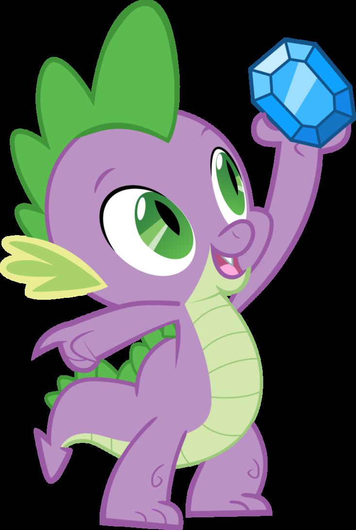 Spike my little pony. Gem clipart mlp fim