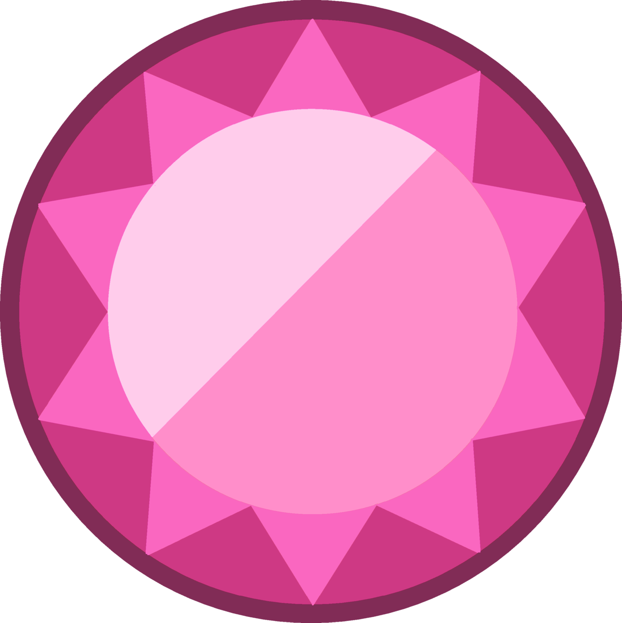 Oval oval gem
