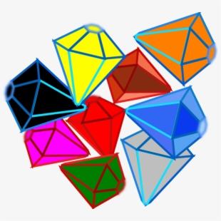 Diamonds of gems transparent. Gem clipart pile jewel