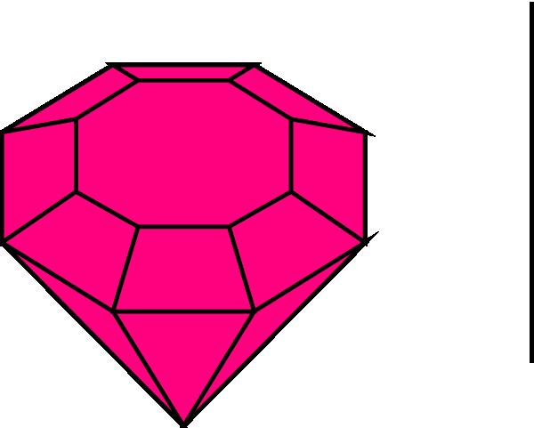 Clip art at clker. Gem clipart pink gem