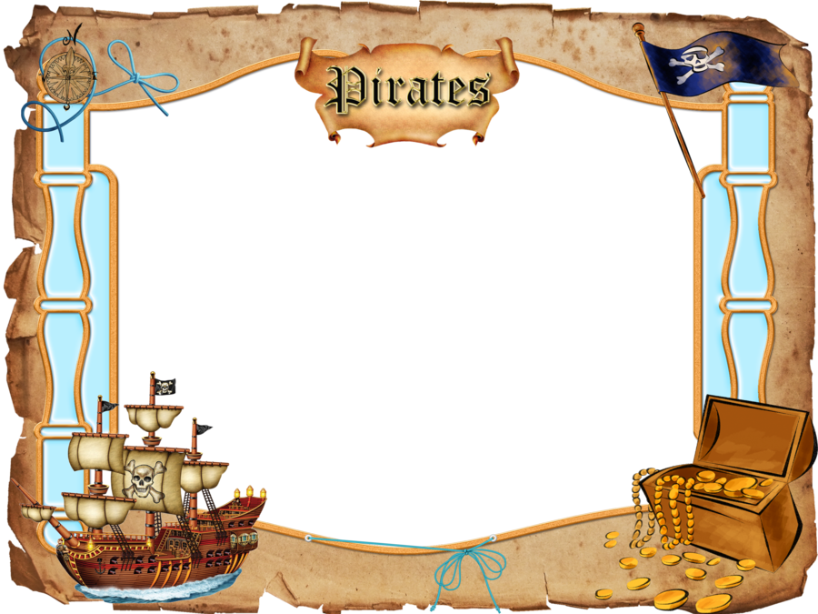 Png by melissa tm. Pirates clipart picture frame
