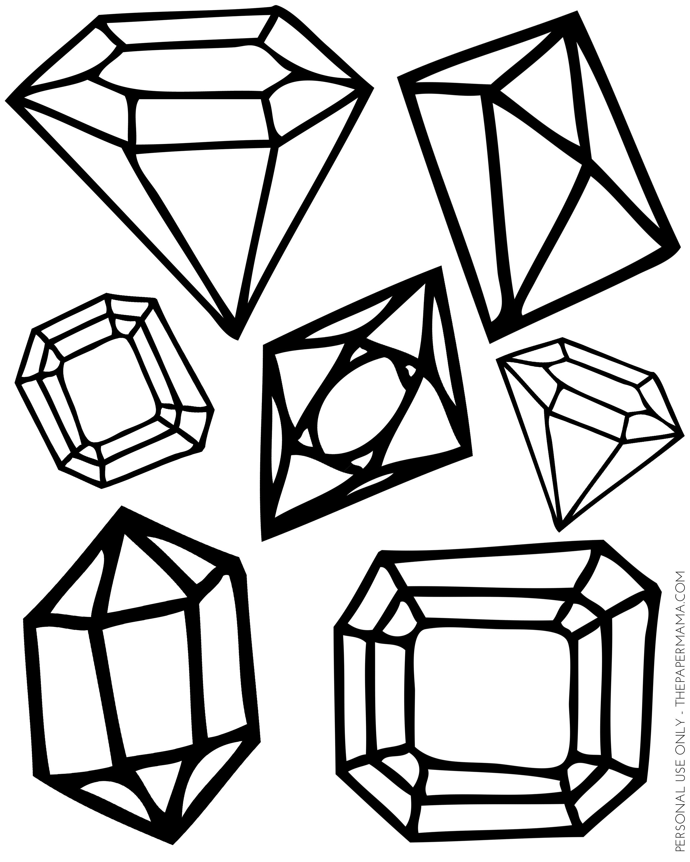 Gem clipart printable. Free gems download clip