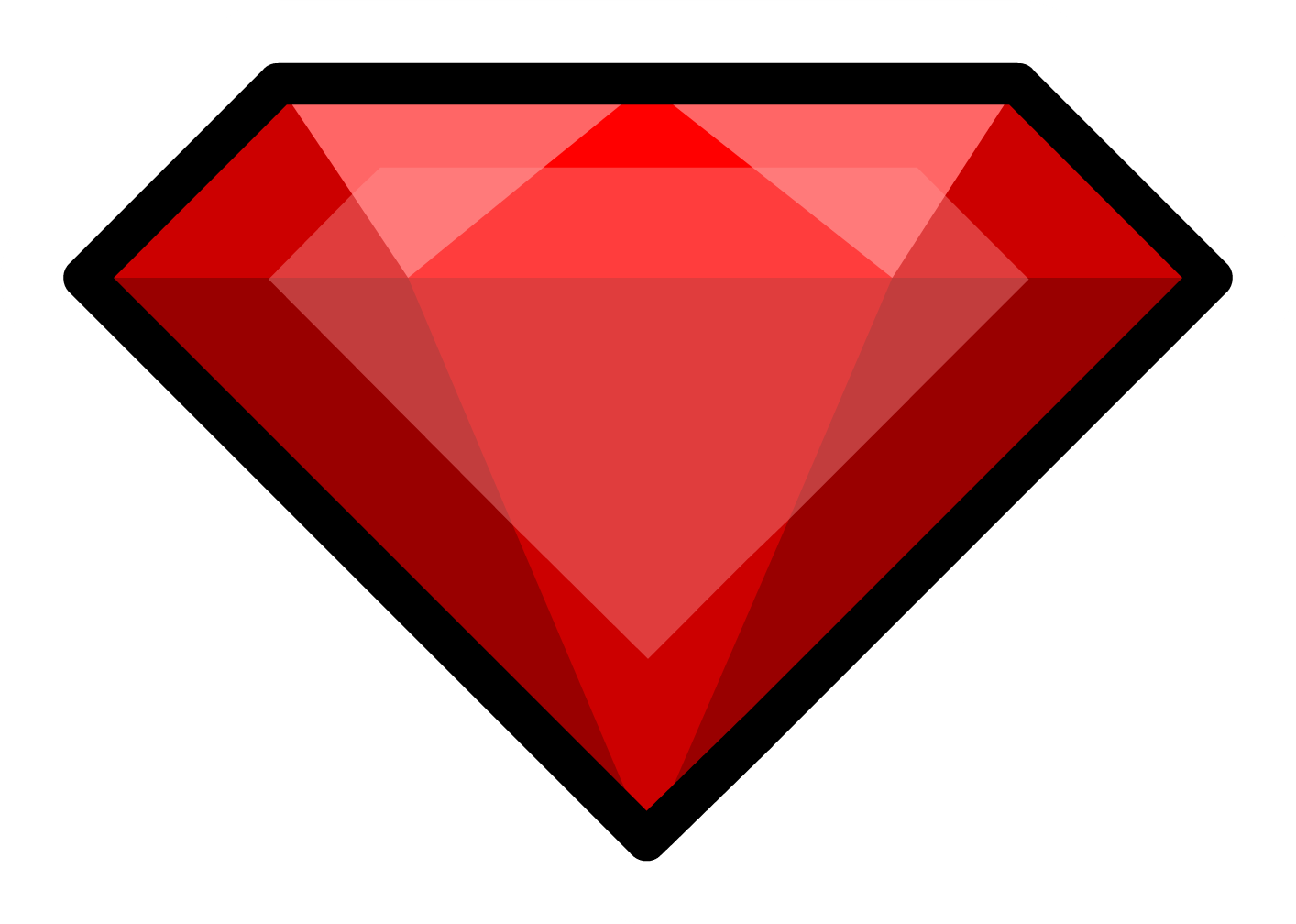 Image pin png club. Gem clipart red gem