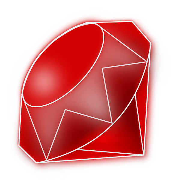 Gem clipart red gem. Ruby stone png image