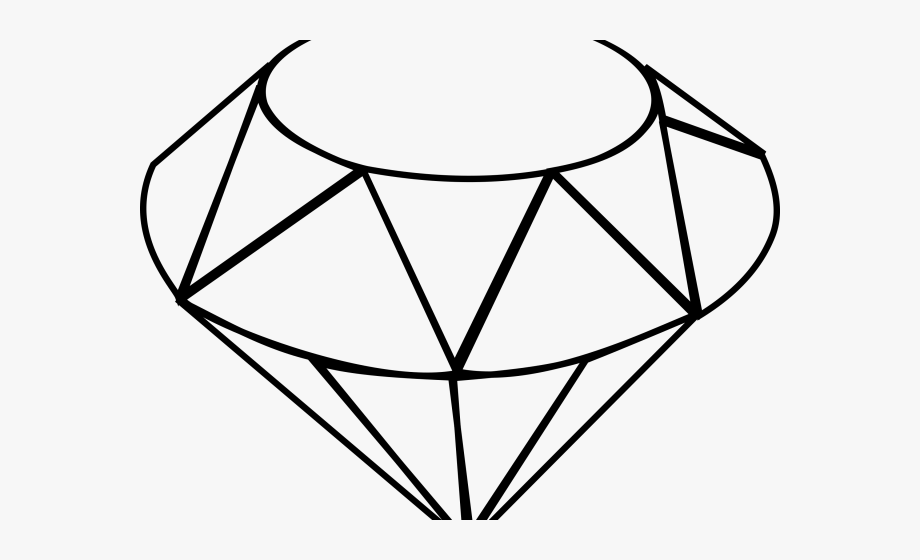 Sketch black and white. Gem clipart ruby