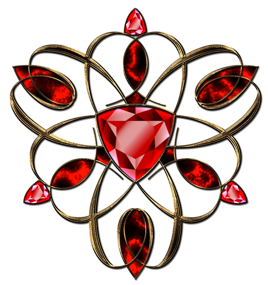 Gem clipart ruby necklace. Jewelry decoration in gold