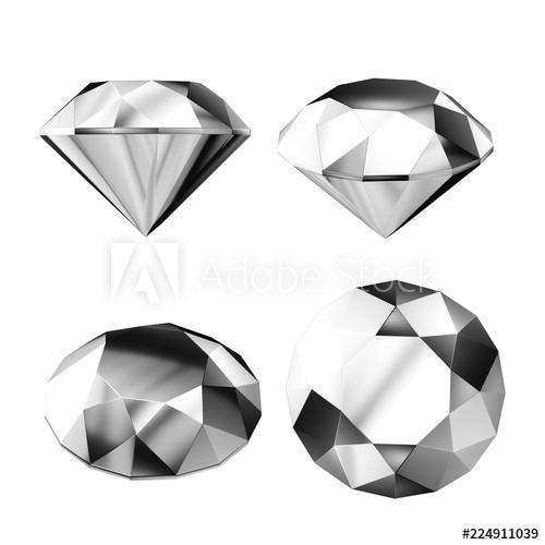 Gem clipart silver diamond.  d render jewel